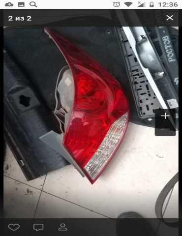 Продам: фонарь задний правый на хендай солярис