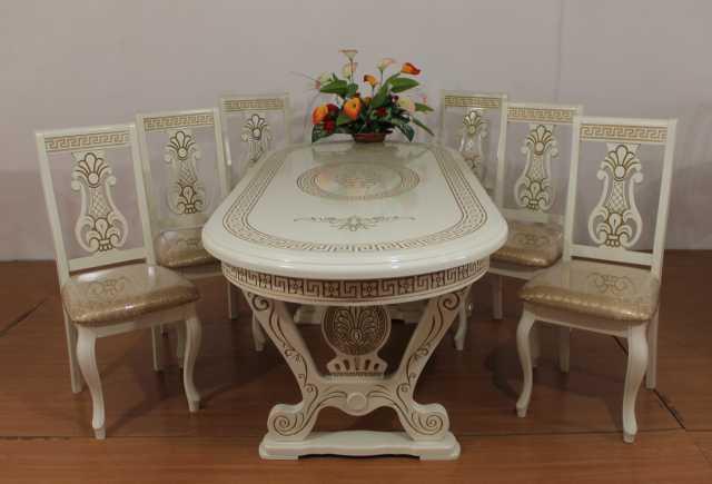 Продам: Стол Лира. Комплект (стол+6 стульев)