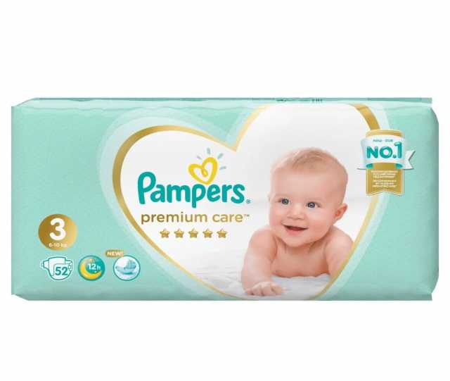 Продам Pampers premium care 3 52шт (новые пачки