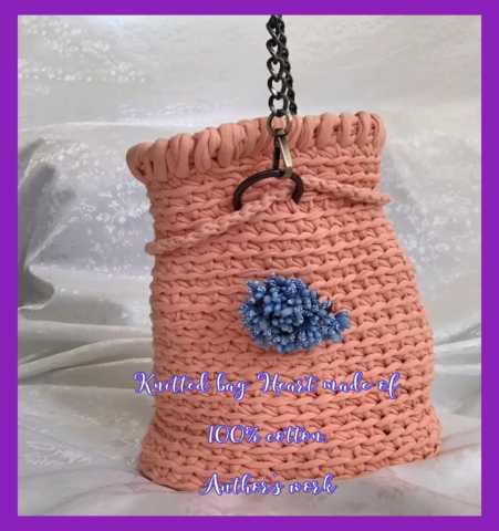 Продам: Вязаная сумка Сердечко