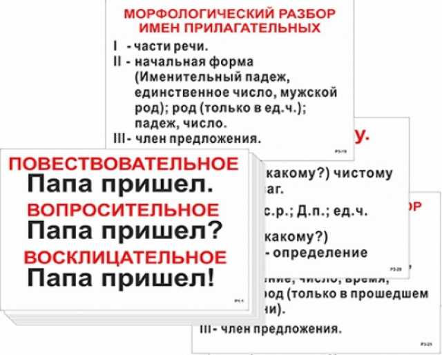 Продам: Опорные по русскому языку для начальной