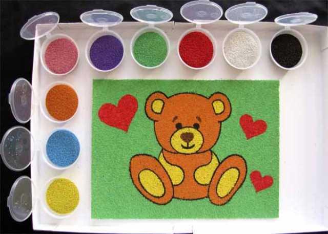 Продам: Цветной песок для творчества