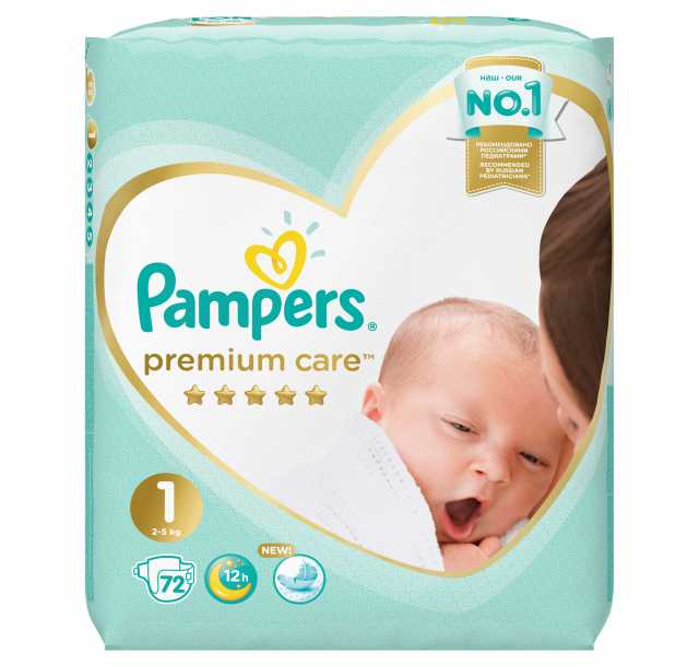Продам Pampers Premium Care. 1 (2-5 кг) 72шт