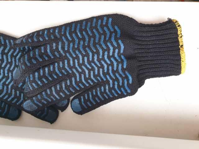 Куплю Перчатки ПВХ Люкс Волна 5 нитей черные