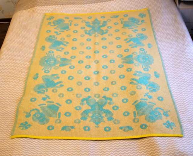 Продам: Детское шерстяное одеяло 100x134см