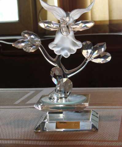 Продам хрустальная фигура цветок