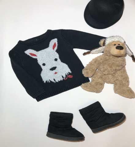 Продам nutmeg размер 98-104 свитер с собачкой