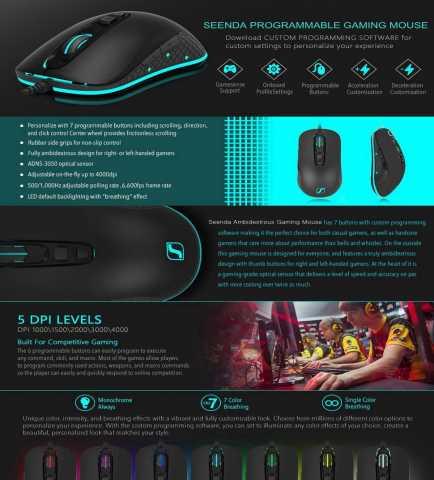 Продам: Игровая мышь SeenDa S600