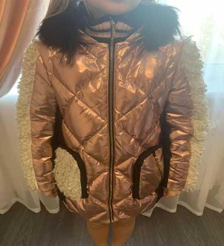 Продам куртка пуховик с отделкой из меха