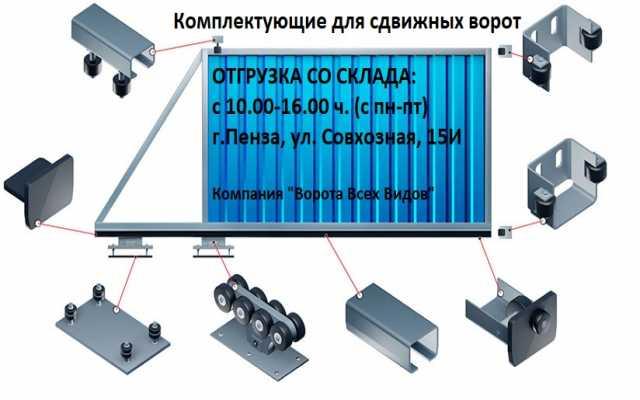 Продам: Комплекты для сдвижных ворот от 7500 р