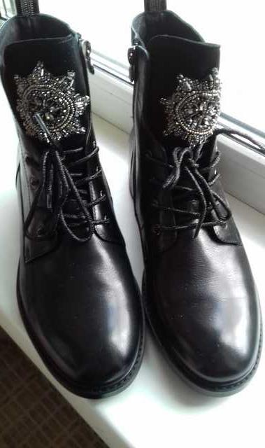 Продам ботинки кожаные женские демисезонные