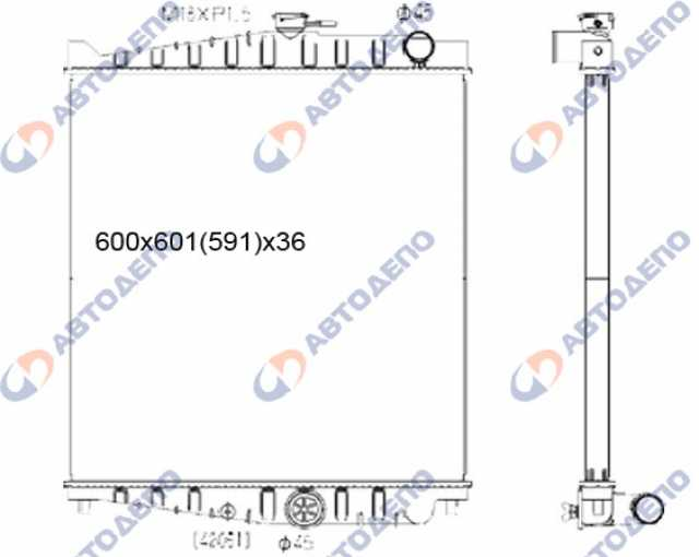 Продам: Радиатор ДВС UD CONDOR 1999- MK211E FE6E