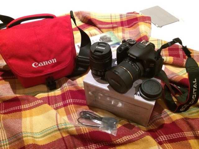 Продам: Фотоаппарат Canon EOS 600d + Samyang 8mm