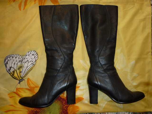 Продам: Сапоги кожаные демисезонные