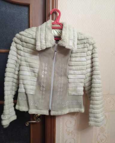 Продам: Курточка кожаная, отделаная кроликом