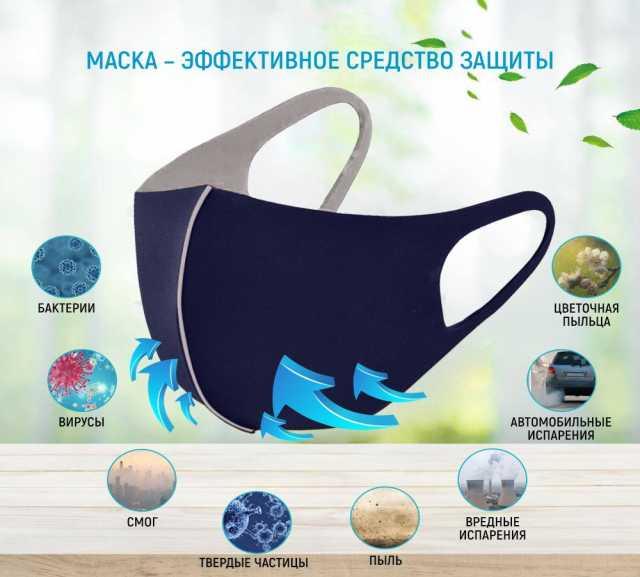 Продам Защитные многоразовые маски для лица