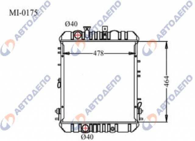 Продам: Радиатор ДВС MITSUBISHI CANTER FB308A