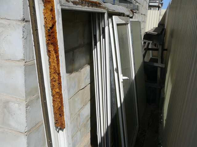 Продам 2 бу пластиковые окна - пакета 270*170