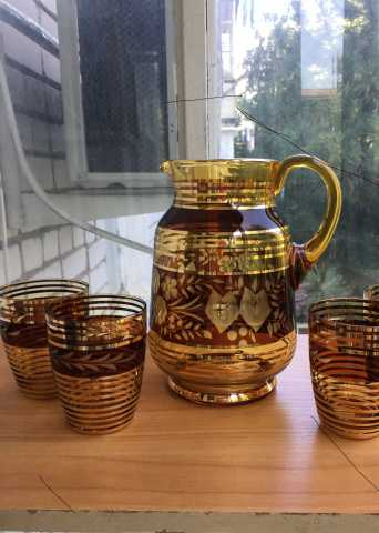 Продам: Кувшин и 3 стакана Богемия