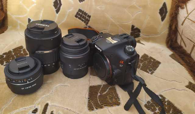 Продам Фотоаппарат sony A57 В комплекте 3 обьек