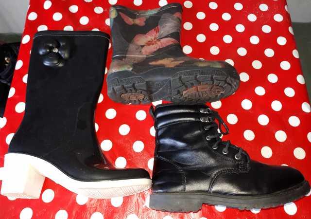 Продам: Сапоги д\с резиновые.замшевые,ботинки