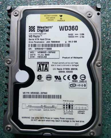 Продам: Жёсткий диск WD360GD Raptor