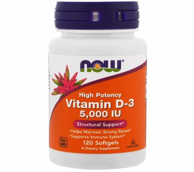 Продам: Now Foods, Витамин D-3, 5000 ME, 120капс
