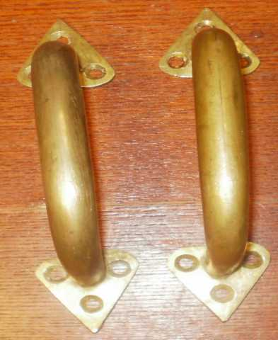 Продам: Старинные скобы дверные бронзовые дутые