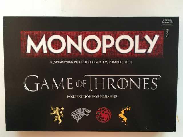 Продам Монополия «игра престолов» коллекционное