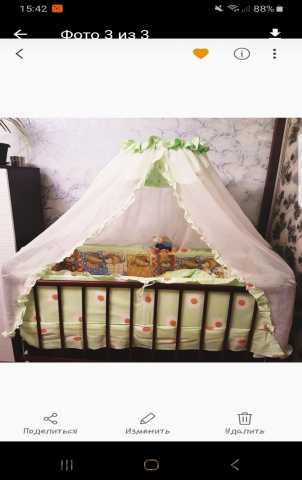 Продам: Кроватка-маятник комплект