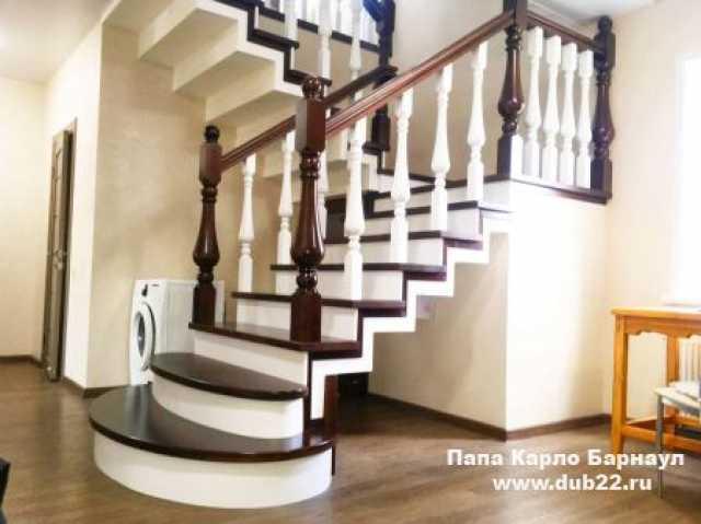 Продам: Облицовка монолитной лестницы деревом