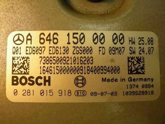 Продам: Блок управления Mercedes 6461500000