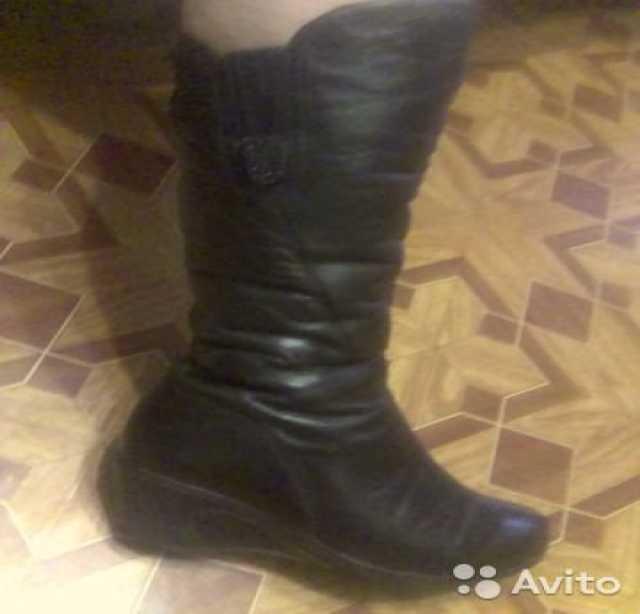 Продам: Кожаные сапоги