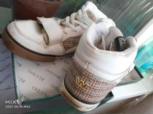 Продам: Кроссовки Wishot размер 41 бело бежевые