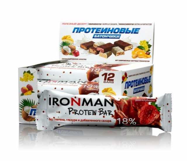 Продам: Батончик протеиновый Ironman™(ром+клубн)