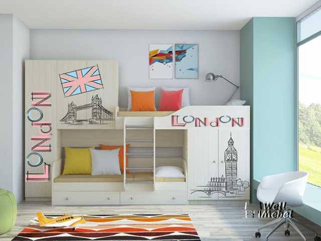 Продам: Детская двухъярусная кровать «Лео Принт»