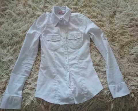 Продам: рубашка белая приталенная