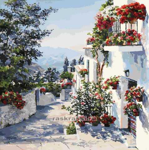 Продам: Картина по номерам 40х50, Испания, новая
