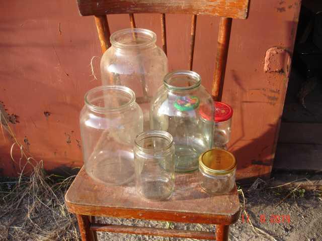 Продам: или обменяю на урожай банки стеклянные