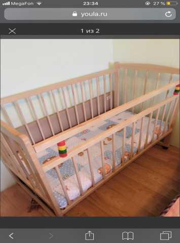 Продам: Детская кроватка+матрасик