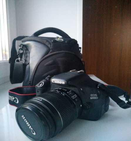 Продам: Canon EOS 600D Kit 18-55 + сумка + карта
