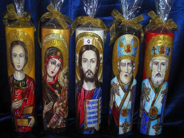 Продам: Свечи с иконописным изображением