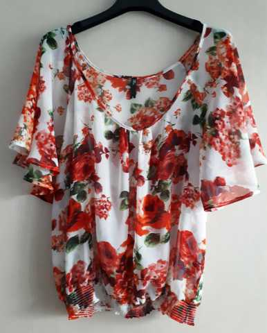 Продам: Шифоновая свободная блуза на резинке
