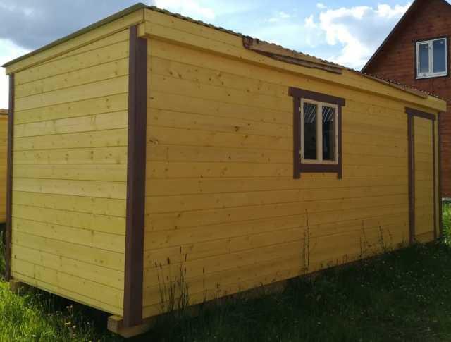 Продам: Бытовка деревянная 6м внутри двп