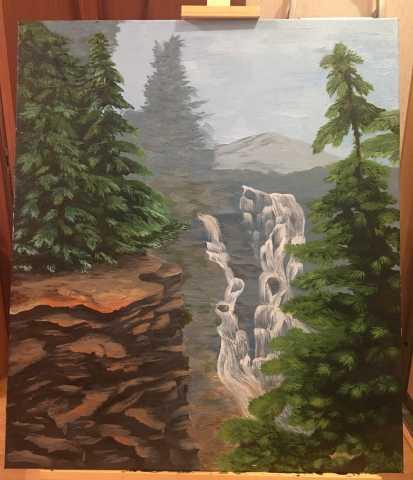 Продам: Картина «Водопад в горах»