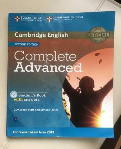 Продам: Учебник + CD и тетрадь Complete Advanced