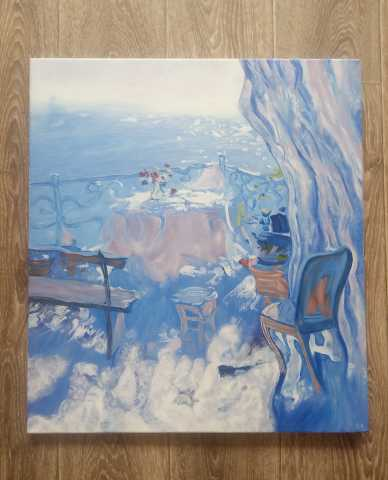 "Продам: Картина ""Терасса"", 50х60см, холст, масло"