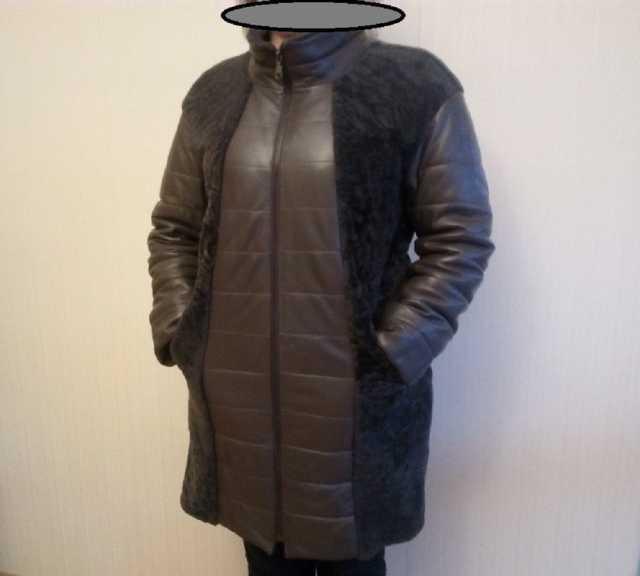 Продам: Женское, зимнее, кожаное пальто с натура