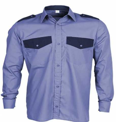 Продам: Рубашка охрана синяя 62-64 разм короткий