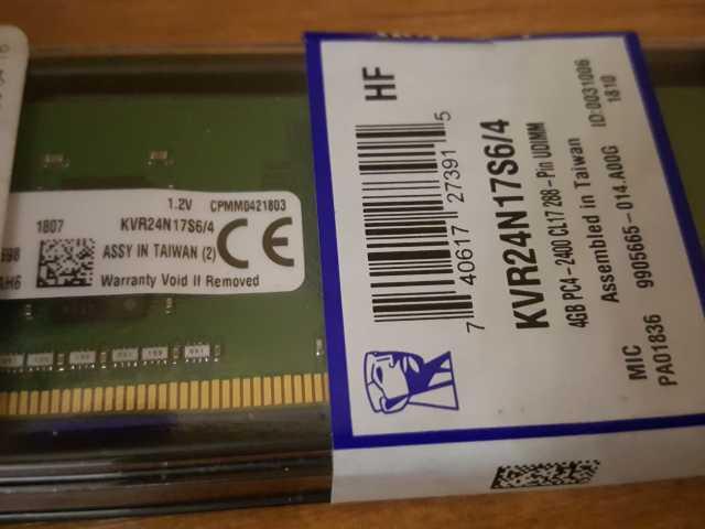 Продам: Память к PC Kingston 4Gb/DDR4-2400MHz/Di